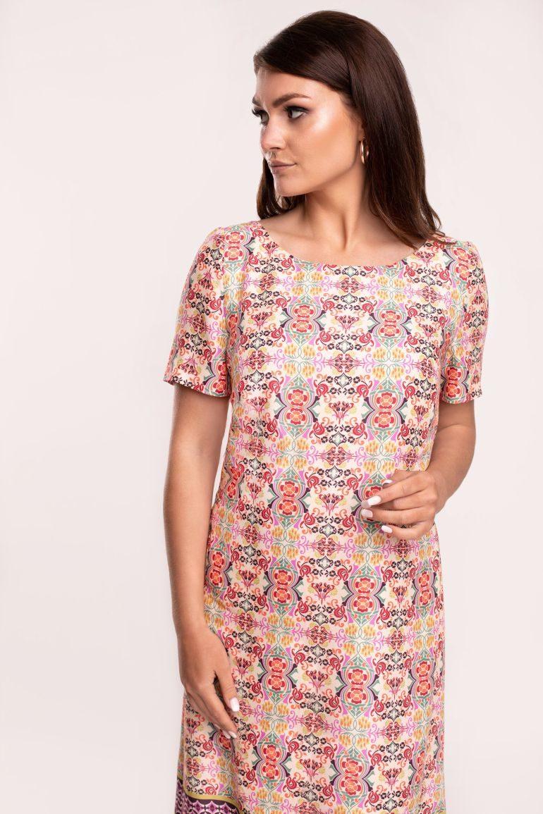 Letnia sukienka z wiskozy