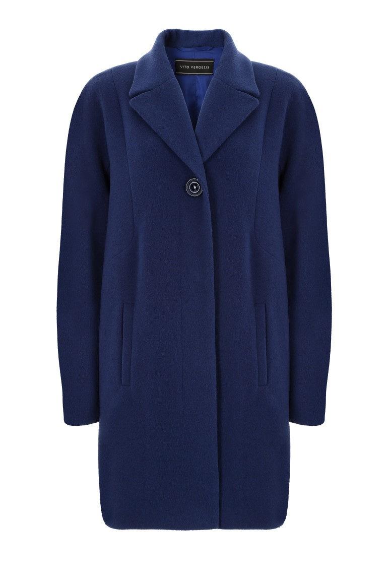 Niebieska kurtka z wełny