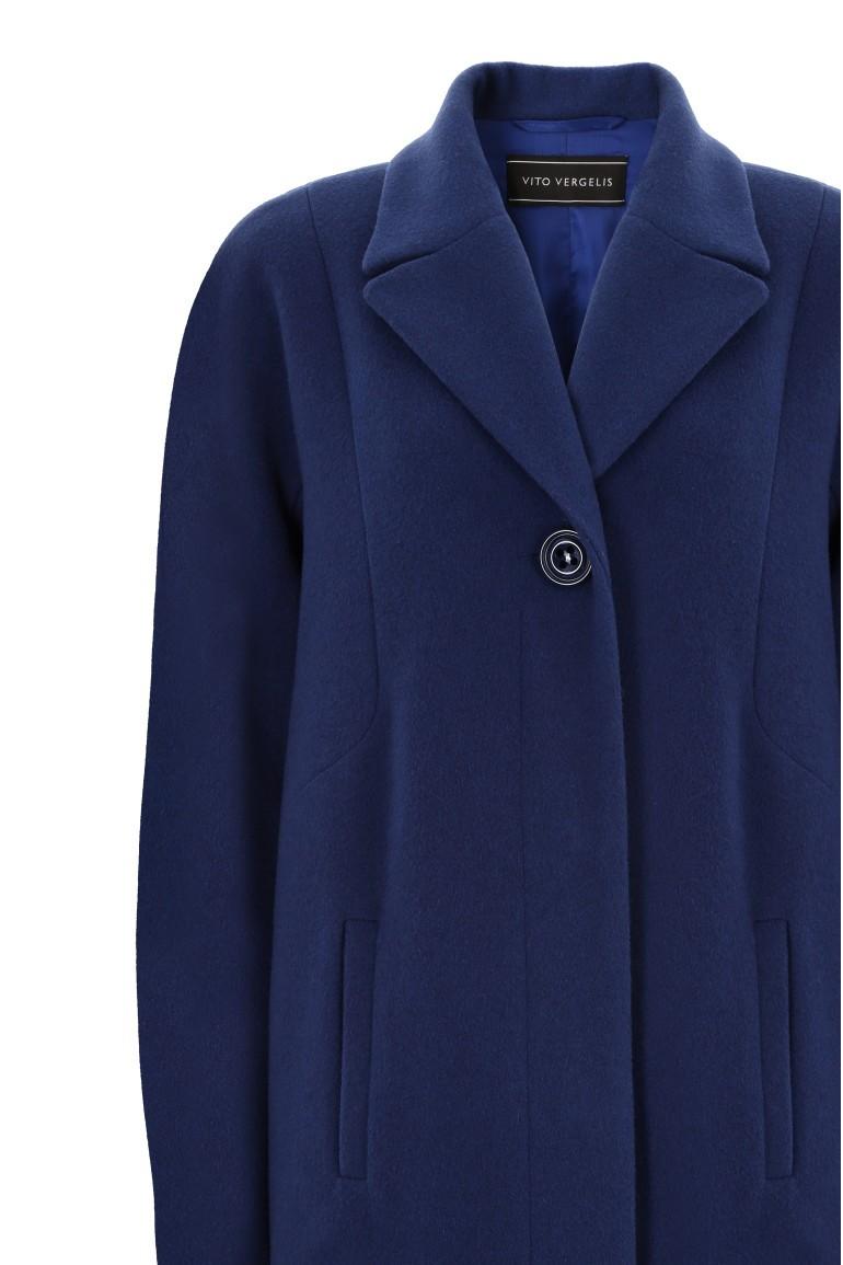niebieska kurtka z wełny owczej marki Vito Vergelis