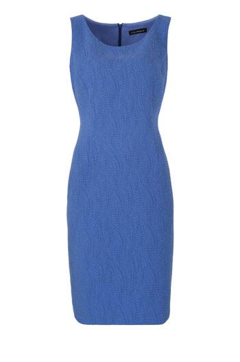 niebieska sukienka ołówkowa bez rękawków marki Vito Vergelis