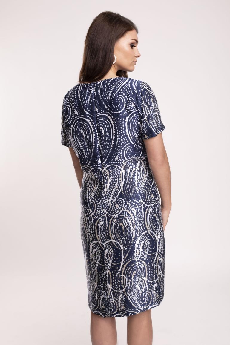 Sukienka z wiskozy z jedwabiem