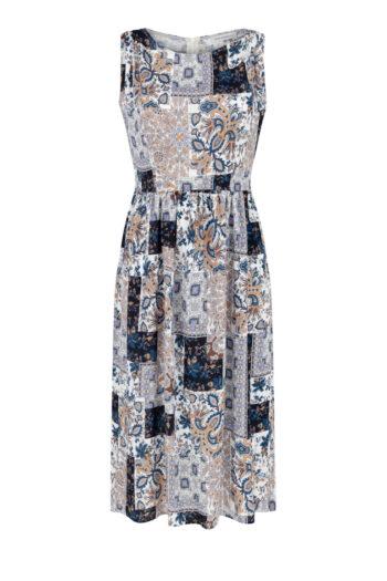 Odcinana sukienka z wiskozy. Sukienka na lato marki Vito Vergelis