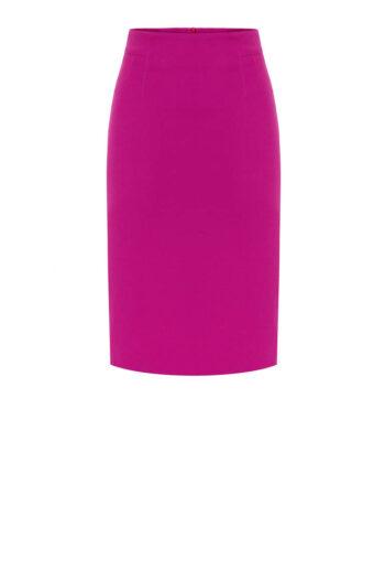 ołówkowa spódnica fuksja - idealna spódnica do pracy marki Vito Vergelis