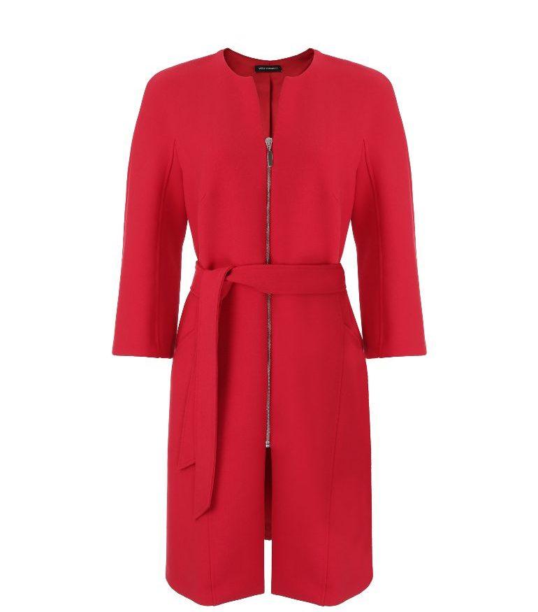 Czerwony płaszcz na suwak