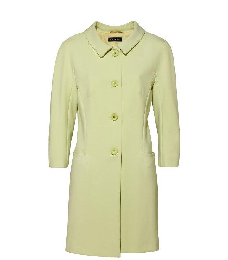 Zielony płaszcz na guziki
