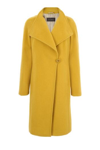 żółty płaszcz z wełny owczej marki Vito Vergelis