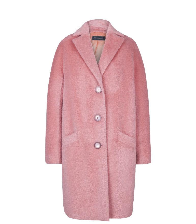Różowa kurtka z alpaki