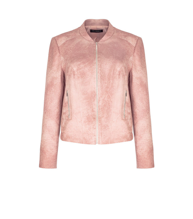 Różowa kurtka bomberka