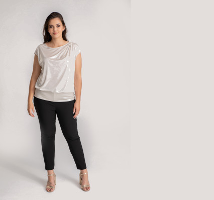 spodnie damskie materiałowe polska marka Vito Vergelis rozmiary plus size