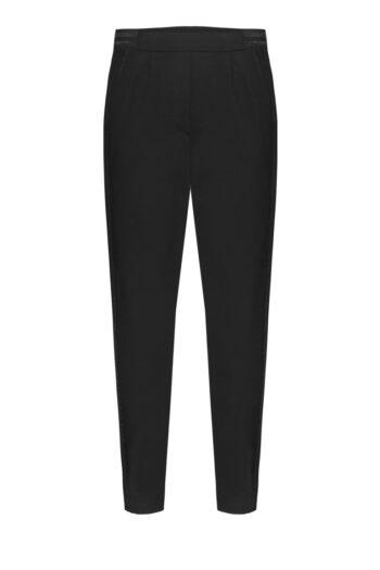 Linia basic Vito Vergelis. Czarne spodnie dresowe na gumie.