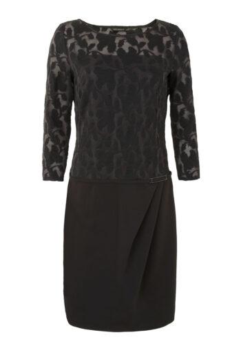 Linia wizytowa. Czarna sukienka z ażurową górą Vito Vergelis