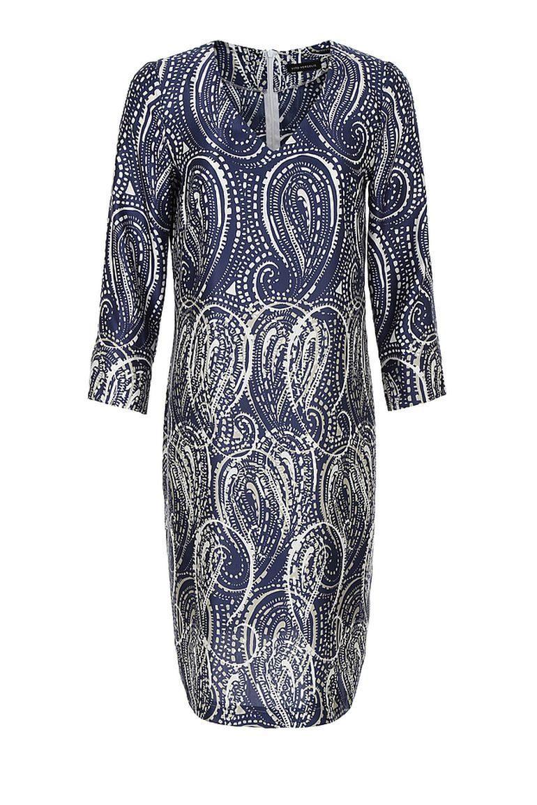 Wzorzysta sukienka z jedwabiem