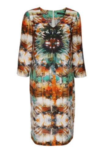 Sukienka Vito Vergelis we wzór boho z wiskozy i jedwabiu.