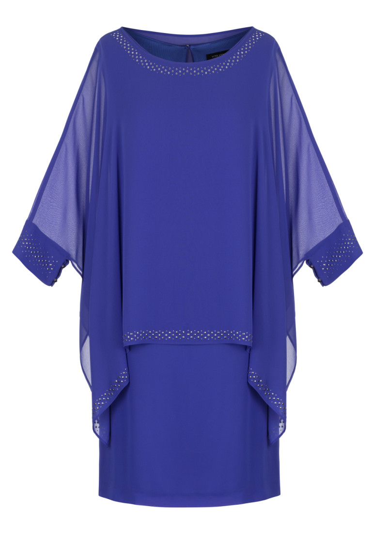 Zwiewna kobaltowa sukienka
