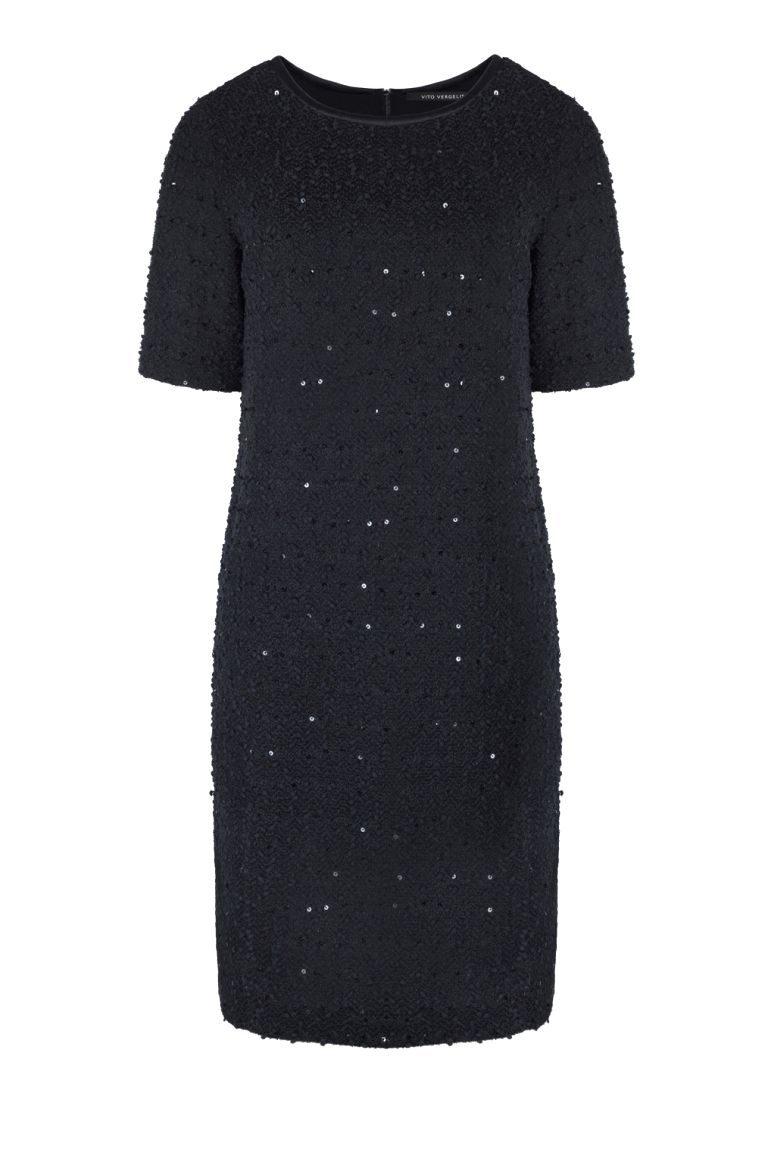 Czarna sukienka boucle