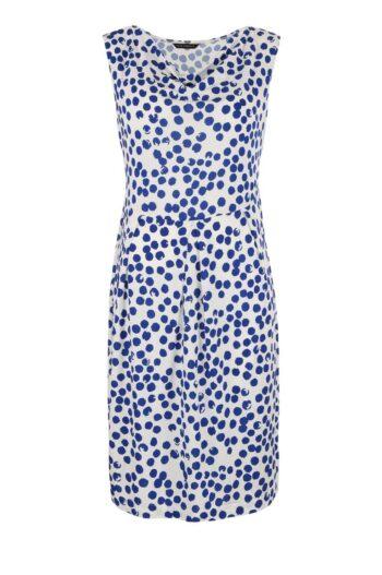 biała sukienka Vito Vergelis w niebieskie kropki 6082