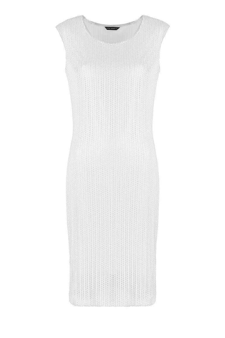Sukienka ze srebrnej siateczki