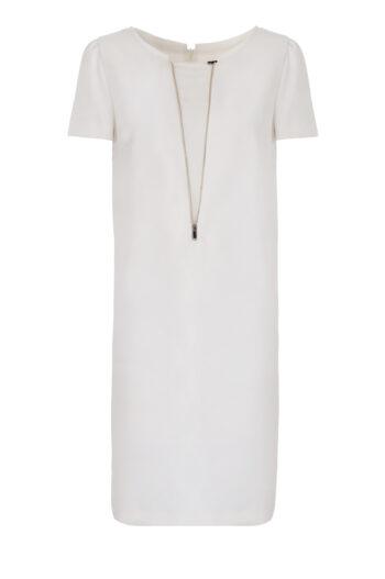 Biała sukienka z ozdobną wstawką marki Vito Vergelis
