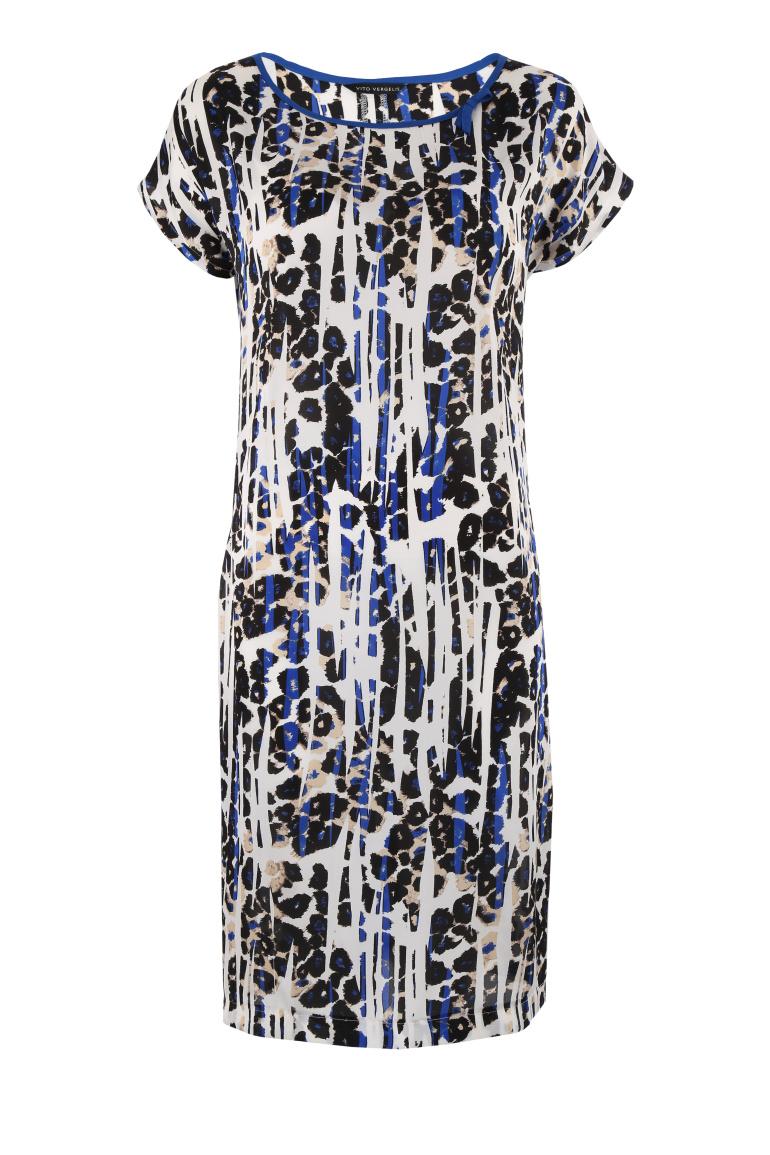 Wzorzysta sukienka w panterkę