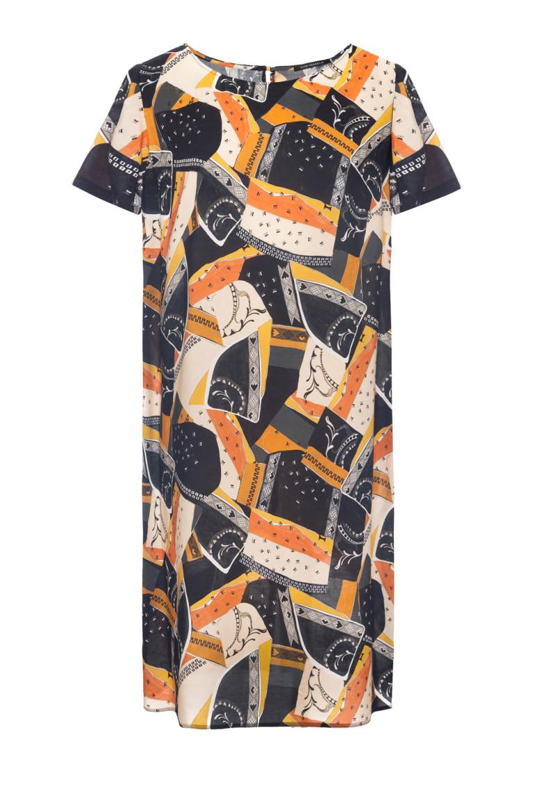 Sukienka z cupro z wiskozą