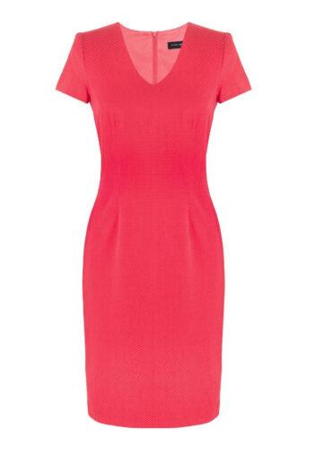 klasyczna czerwona sukienka z rękawkiem Vito Vergelis
