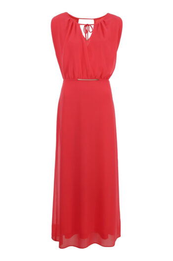 Koralowa sukienka maksi marki Vito Vergelis