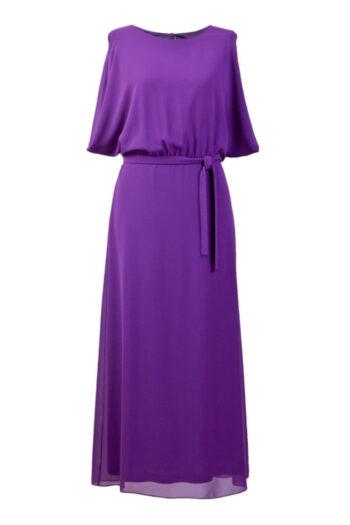 długa fioletowa sukienka Vito Vergelis