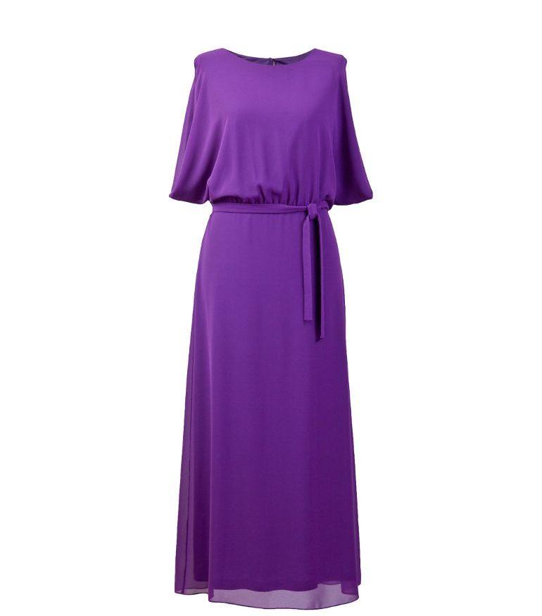 Fioletowa sukienka maksi