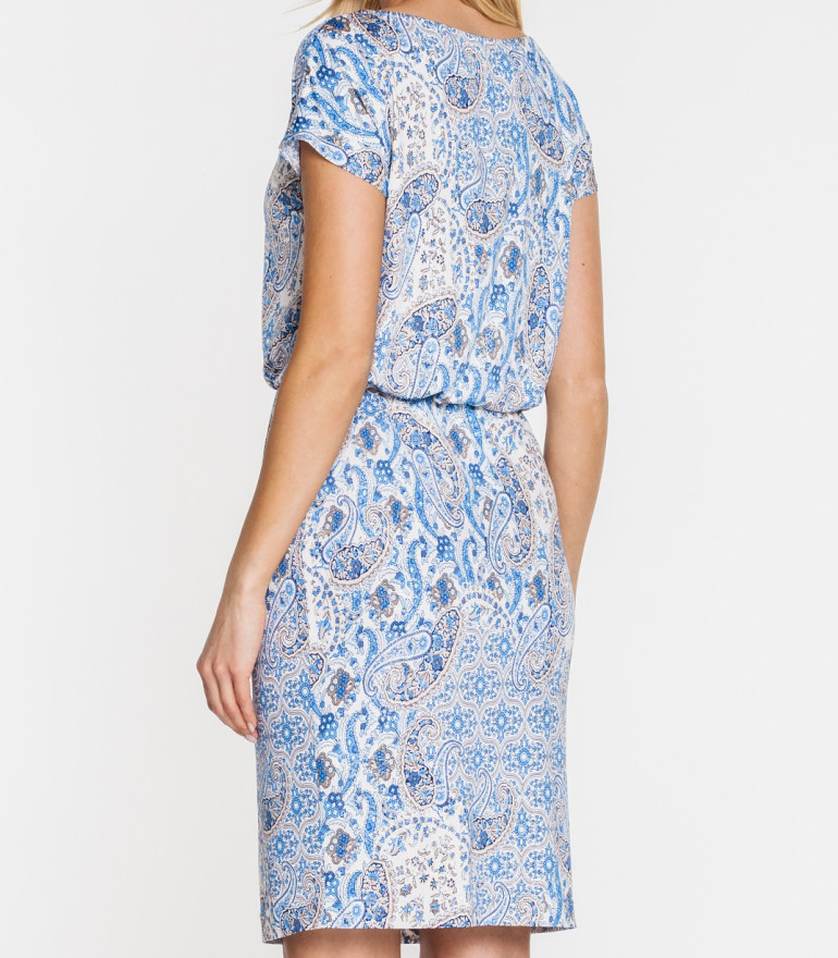 Wygodna sukienka w nadruk mozaiki