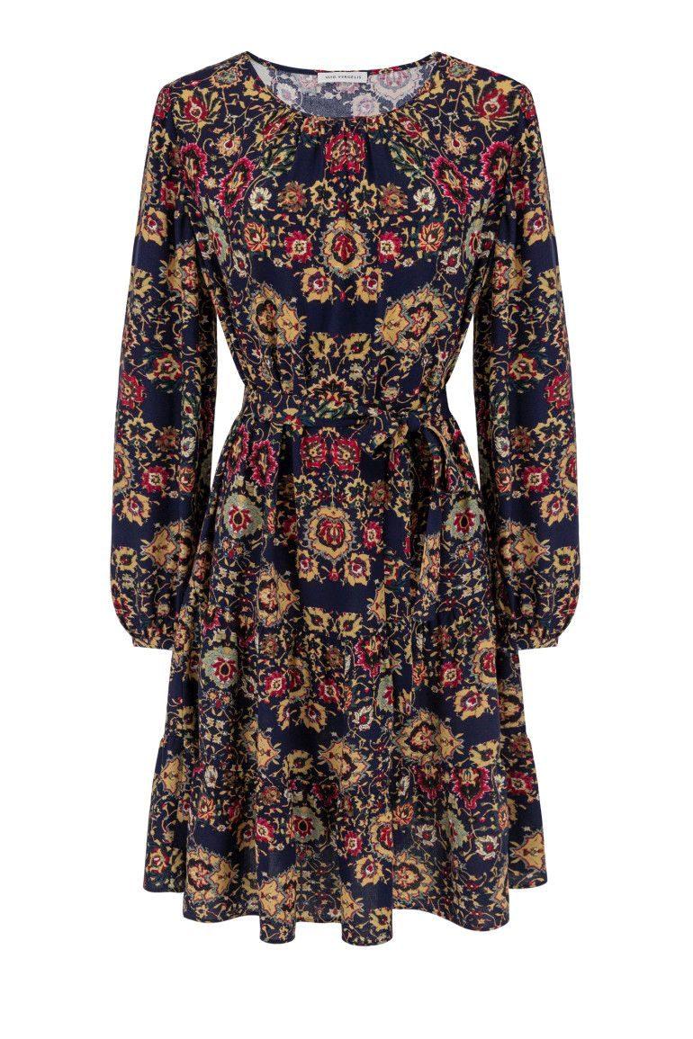 Sukienka z wiskozy w kwiaty