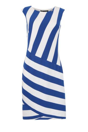 Vito Vergelis sukienka z grubej dzianiny w skośne paski 6071