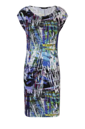 kolorowa sukienka dzianinowa Vito Vergelis niebieska 6130