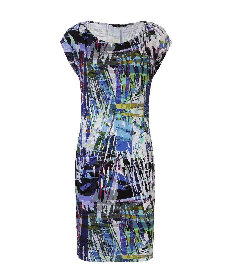 Sukienka z kolorowej dzianiny wiskozowej