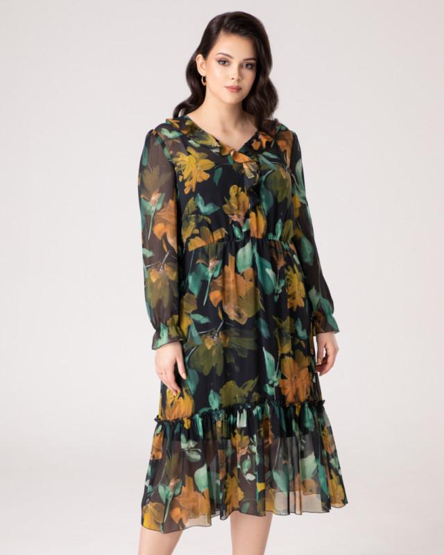 sukienki na jesień - zwiewna sukienka midi marki Vito Vergelis