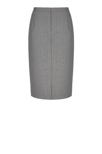 szara spódnica w różowy prążek polskiej marki Vito Vergelis