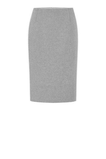 Szara spódnica dzianinowa z białym lampasem polskiej marki Vito Vergelis
