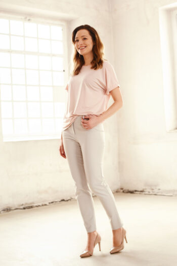 szare spodnie damskie z elastanem polska marka Vito Vergelis
