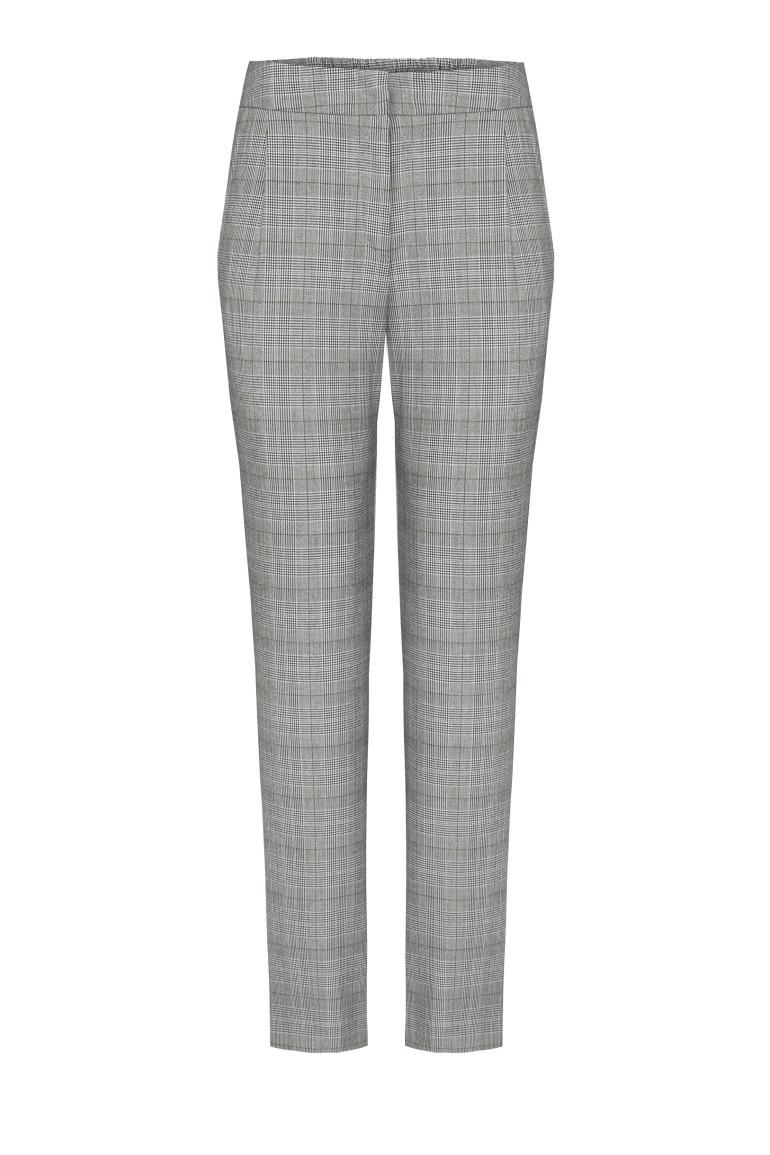 Szare spodnie w kratkę