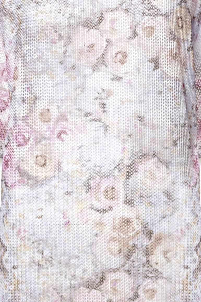 Tunika z siateczki w róże
