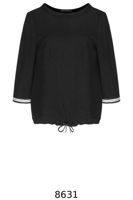 Czarna bluza ze stójką i taśmami Vito Vergelis.