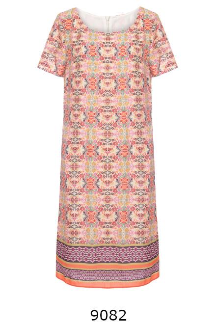 Kolorowa sukienka z wiskozy w nadruk mozaiki marki Vito Vergelis