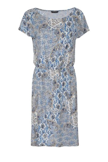 wygodna sukienka z dzianiny w nadruk mozaiki polskiej marki Vito Vergelis