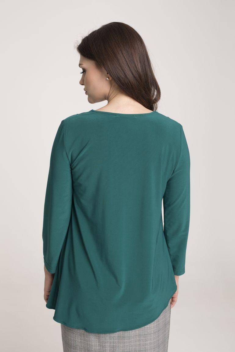 Zielona bluzka z kontrafałdą