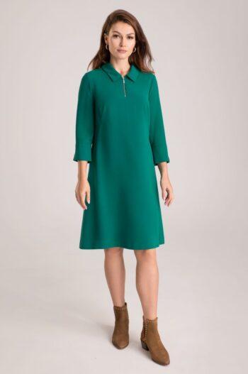 zielona sukienka z kołnierzykiem Vito Vergelis