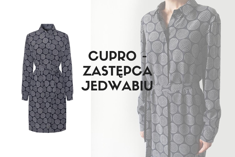 Cupro włókno - sukienki z cupro Vito Vergelis