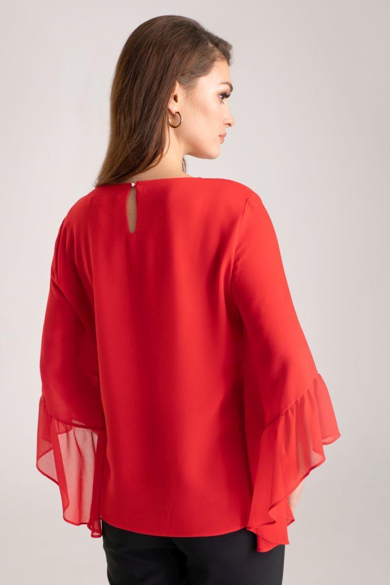 Czerwona bluzka szyfonowa