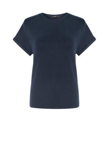 Granatowa bluza damska micormodal krótki rękaw