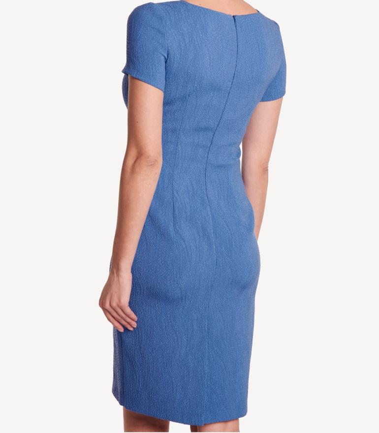 3c4b587cb2 Niebieska sukienka z rękawkiem - Vito Vergelis
