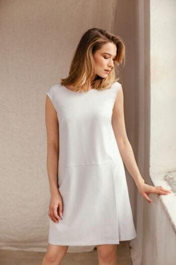 Szara sukienka na lato do pracy polska marka Vito Vergelis